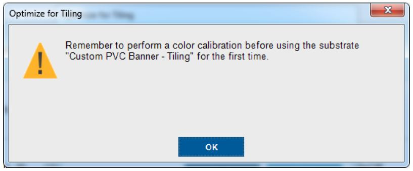 remember to perform a color calibration before using the substrate