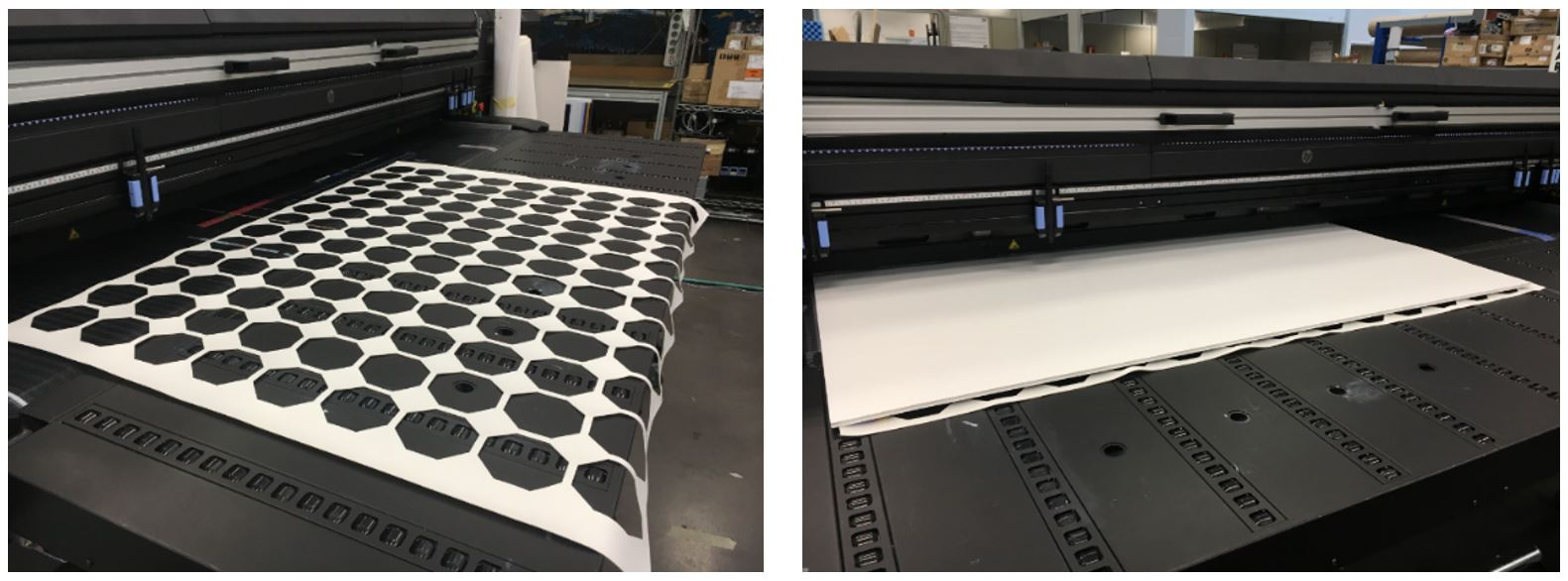 HPLatex flatbed rigid double sided printer