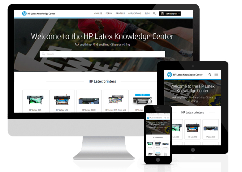 HP Latex Knowledge Center
